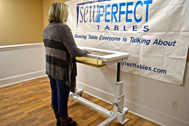 Sew Perfect Height Adjustable  Ergonomic Sewing Table