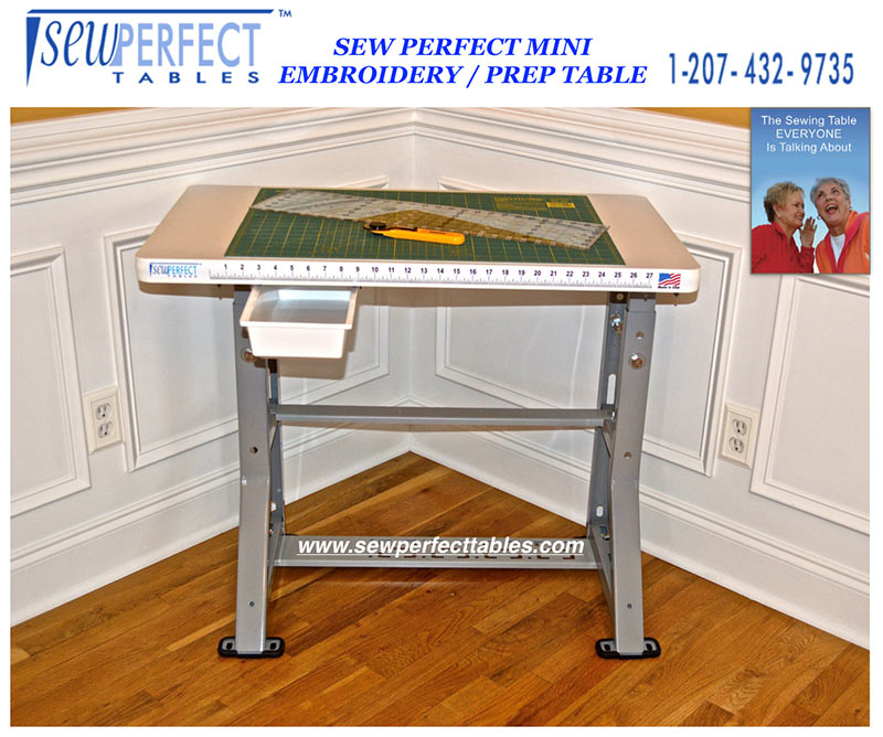 Sew Perfect Height Adjustable  Ergonomic Quilting Table