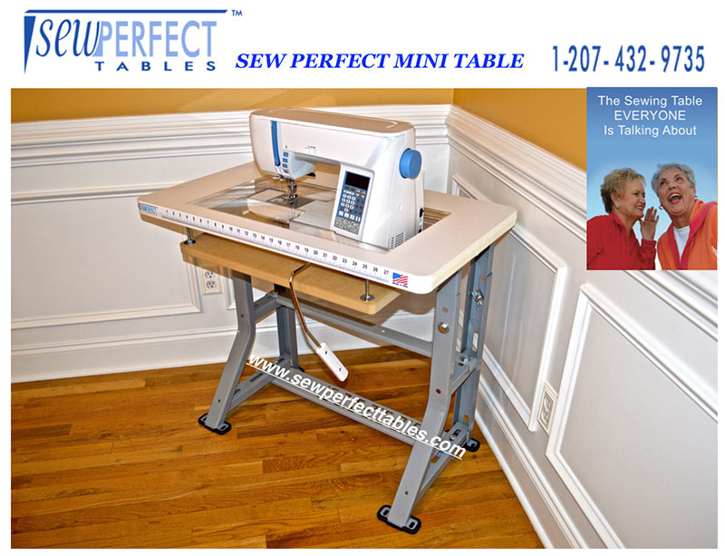 Mini Sewing Tables By Sew Perfect Enchanting Adjustable Sewing Machine Extension Table