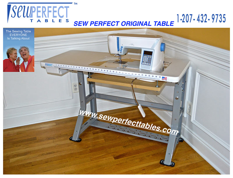 Sewing Tables The Original Sew Perfect Table Enchanting Custom Sewing Machine Table