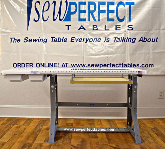 ergonomic quilting machine table