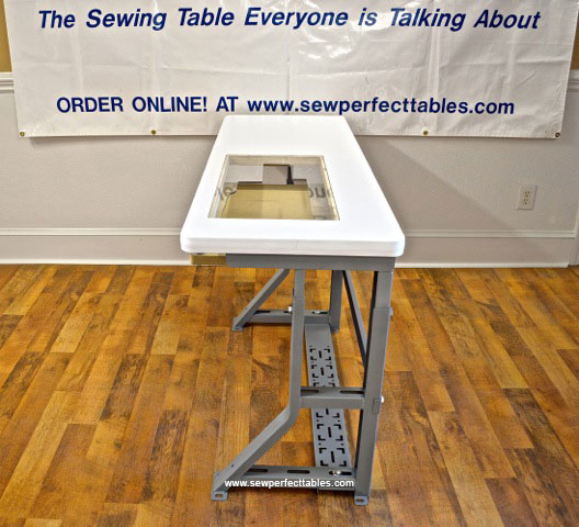 Tilt and Height Adjustable Sewing Table